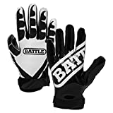 Best Football Gloves For Receivers - Battle 2018 Ultra-Stick Adult American Football Performance Receiver Review