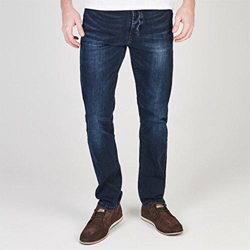 Soviet Herren Jeans Straight Fit 5 Taschen Blau/blk Strght 32W S (Denim Jeans Bootcut Faded)