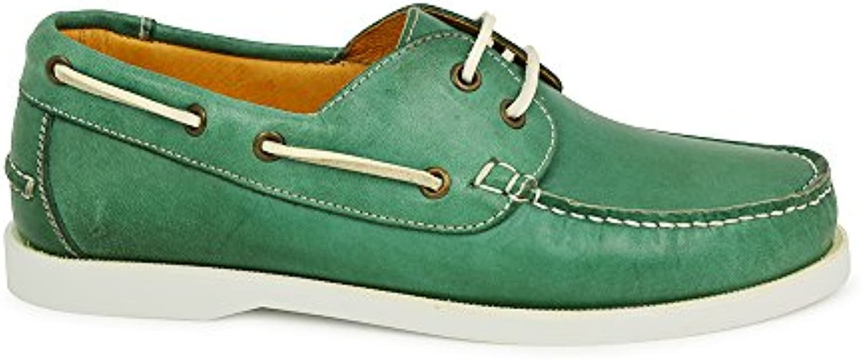 Tambuche Nautilus Zapato Cordones Piel Premium Verde Hombre