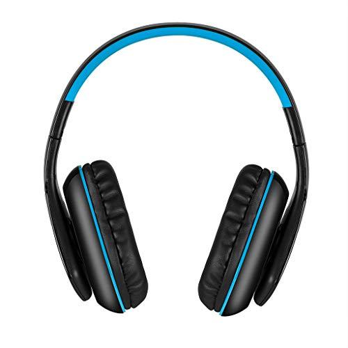 Bluetooth Kopfhörer Wireless Headset Faltbares Gaming mit Mikrofon(Blau)