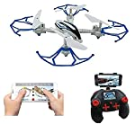 Amitasha WiFi 2.4G 4CH RC 6 Axis Gyro Quadcopter Drone with 0.3MP HD Camera, 360-degree 3D Flips Function RC (Multi-Color)