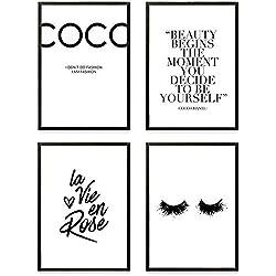 Heimlich® Premium Poster (4 Stück in DIN A4) | Große Auswahl an Motiven im Shop | auch mit Rahmen » Coco «