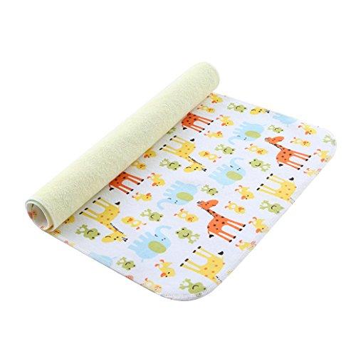 Babylaza tappetino per cambiare il pannolino del bebè, lavabile e impermeabile, con 3 strati impermeabili,telo cambio pannolino impermeabile