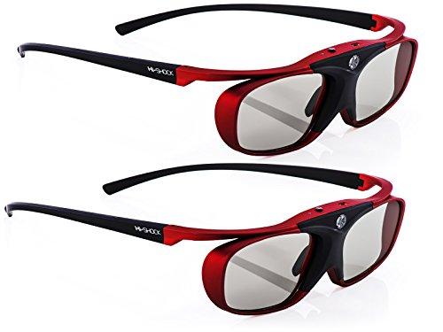2X Hi-SHOCK BT Pro Scarlet Heaven aktive 3D Brille für 3D TV von Sony, Samsung, Panasonic | komp. mit SSG-3570CR, TDG-BT500A, TY-ER3D5ME 120 Hz