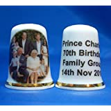 China Thimble Free Box Prince Harry and Meghan Wedding Family Group