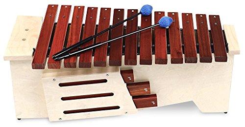 Classic Cantabile AX-1600NG Altxylophon (Alt Xylophon, 16 Töne, C-Dur Tonleiter, Tonumfang: c\' bis a\'\', Resonanzkasten aus Lindenholz, Schlägel) Lindenholz