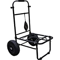 FOLDING FISHING SEATBOX TROLLEY WITH PNEUMATIC TYRES