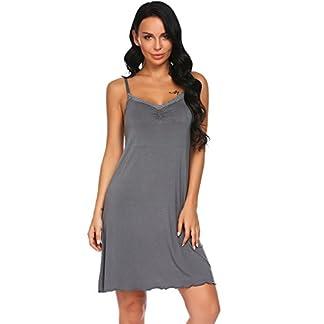 0521869e0f2a32 UNIbelle Damen Nachthemd Ärmellose Schlafanzug Sommer Negligee Kleider