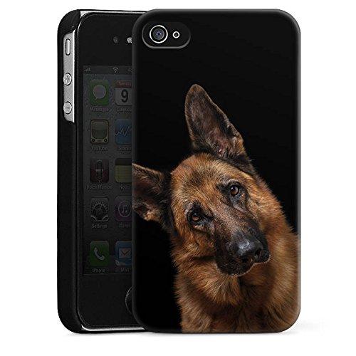 Apple iPhone 6 Hülle Silikon Case Schutz Cover Schäferhund Hund Dog Hard Case schwarz