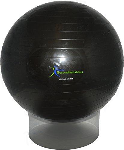 Gymnastikball schwarz 75cm inkl. Pumpe