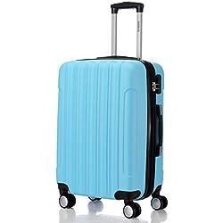 BEIBYE doble ruedas carcasa rígida maleta estuche de viaje, Himmelblau, Medium