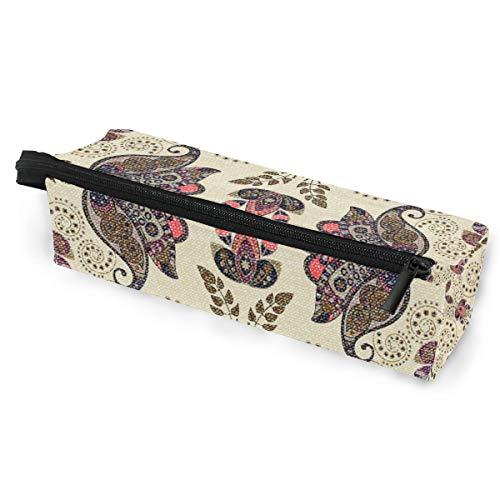 Blumenmuster Brillenetui Softbox Reißverschluss Sonnenbrille Halter Federbeutel Schutzhülle Bleistift Kosmetiktaschen Aufbewahrung