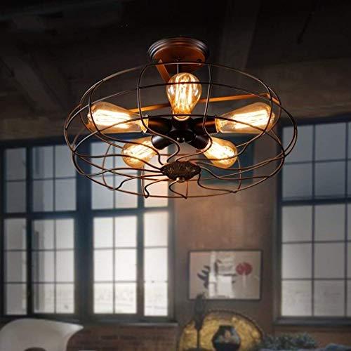 Pendelleuchte Deckenventilator Retro Luminous Restaurant Lounge Haus Lampen Und Laternen Studio Nostalgische Treppe Von Gang 5 Kopf E27 Mode - # 1 [Energieklasse A ++] -