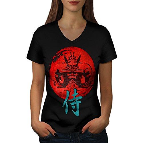 japonais-rouge-symbole-asiatique-femme-nouveau-noir-xl-t-shirt-wellcoda