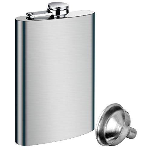 150g Flaschen (Flachmann Edelstahl ,Tatuer Trinkflasche Flachmann Camping Zubehör Taschenflasche - 1*10oz 285ML Flachmann + 1* Trichter)