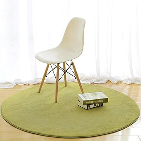 Tapis circulaire simple salon du thé salon de la chambre chevet couvert de lit maison tapis de chaise ordinateur couleur solide , 1 ,
