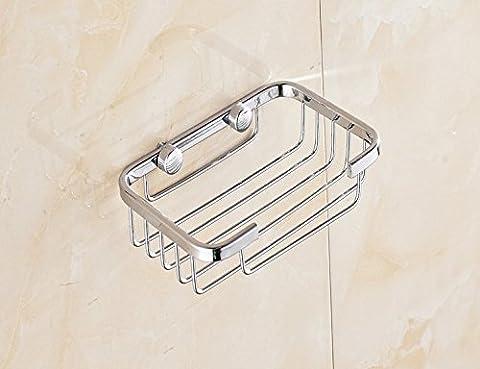 Savon en acier inoxydable Rack Ensemble de salle de bain Savon Boîte Savon en maille filet, 13*9cm