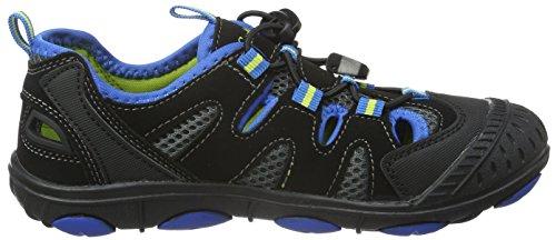 Conway 168315, Sandales ouvertes mixte enfant Multicolore - Mehrfarbig (schwarz/blau/lime)