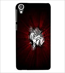 PrintDhaba Abstract Image D-4717 Back Case Cover for HTC DESIRE 820 (Multi-Coloured)