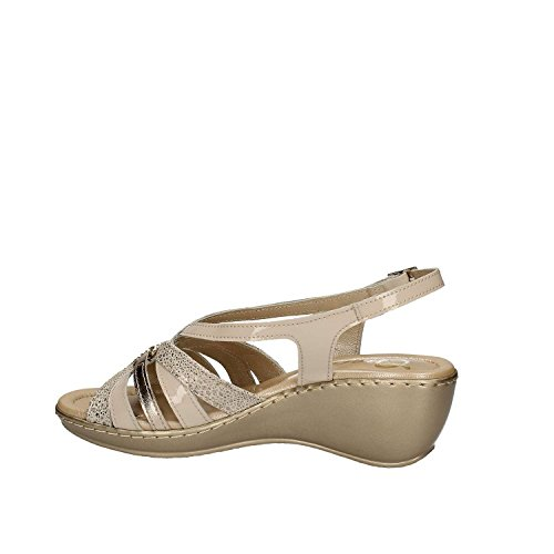 GRACE SHOES EL713 Sandalo zeppa Donna Beige