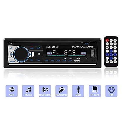 Andven-Autoradio-mit-Bluetooth-Freisprecheinrichtung-MP3-Player-Receiver-fr-iPhoneiPadiPodSmartphone-Untersttzung-FMDual-USBAUXTF-Karten