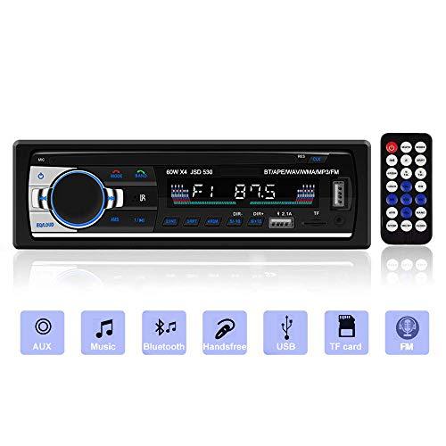 [Nuova Versione] Andven Autoradio Bluetooth, 4x60W Auto Stereo Audio Ricevitore per Autoradio Universale 1 Din, Supporto AUX/TF/Dual USB/Telecomando