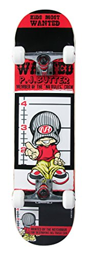 authentic sports & toys GmbH No Rules Skateboard ABEC 1, PJ Butter