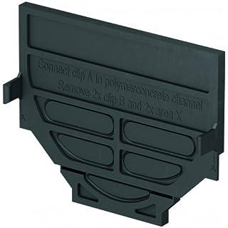 ACO Self® Kombistirnwand - für Verschluss der Rinne - stabiler Kunststoff - einfache Montage