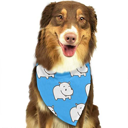 Kostüm Hippo Baby - Sdltkhy Baby Hippo Pattern Pet Dog Cat Bandanas Triangle Bibs Pet Scarf Dog Neckerchief Headkerchief Pet Accessories