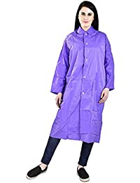 REXBURG Stylish Long Women's Rain Coat (Blue), Absolute Comfortable and Made with 100% Water Proof Material. (Large Size)