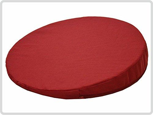 Orthopädisches Keilkissen, RUND Ø 36 cm, 100 % Baumwollbezug! - Farbe: rot - Kissen Sitzkissen Sitzkeilkissen Sitzkissen Sitzkeil *Top-Qualität zum Top-Preis* - Runde 36