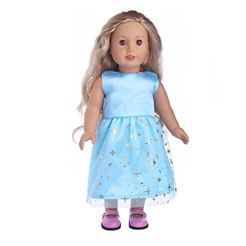 Puppenkleider Kleid Set für 45,7cm American Girl Puppe Unsere Generation mingfa Süße Prinzessin Kleid Up Kostüm Puppe Zubehör
