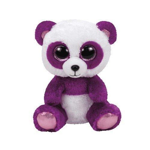 """Beanie Boo Panda - Boom Boom - White/Purple - 15cm 6"""""""