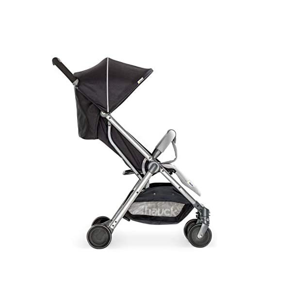 Hauck Swift Plus, Compact Pushchair with Lying Position, Extra Small Folding, One Hand Fold, Lightweight, Carrying Strap, from Birth Up To 15 kg, Silver/Charcoal Hauck EASY FOLDING - This pushchair is as easy to fold away as possible - the comfort stroller can be folded with one hand only within seconds, leaving one hand always free for your little ray of sunshine LIGHTWEIGHT - This pushchair can not only be folded away very compactly, but also easily transported by its carrying strap thanks to its light weight and aluminium frame COMFORTABLE - Backrest and footrest are multi-adjustable, the hood extendable. In addition, the pushchair comes with suspension, swiveling front wheels, soft padding, and large shopping basket 20