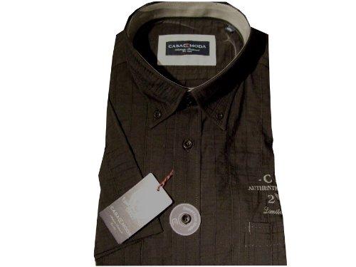 CASAMODA Herren Button-Down 1/2sleevecasual Shirt Schwarz