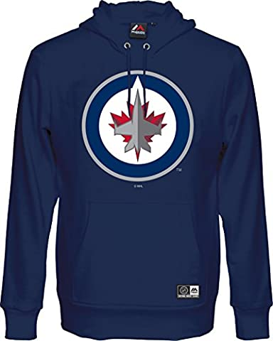 NHL Kaputzenpullover Hoody WINNIPEG JETS navy Team hooded sweater (L)