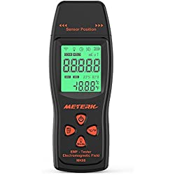 Meterk EMF Meter Detector de radiación de campo electromagnético Mini Digital LCD EMF Detector Dosímetro Tester Contador