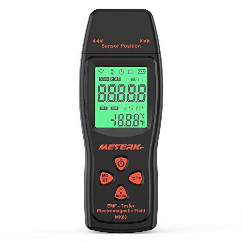 Meterk EMF Meter elettromagnetico Rivelatore di radiazione di campo Mini LCD digitale a mano Dosimetro