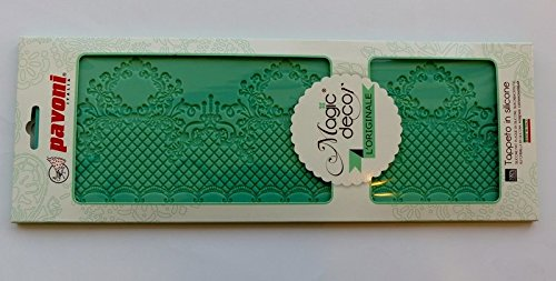 Cake Company Magic Decor Silikonmatte für essbare Spitzen-Deko | 135 x 368 mm |Silikon-Matte zum...