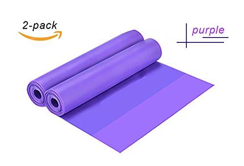 Scheppend 2 PCS Widerstand Bänder groß für die Verbesserung der Ausübung Fitness,Workout Mobilität und Stärke,Yoga Pilates oder für Verletzungen Rehabilitation Violett 150cm (Knöchel Mobilität)