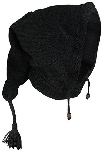 Little Kathmandu in lana foderato in pile pixie punta lunga sciarpa scaldacollo cappuccio mago cappello (Cappuccio Foderato Hat)