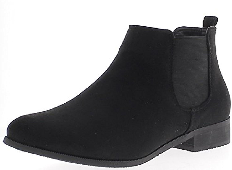 Botas Bajas a Mujer Negro Tacón DE 2,5 cm Ante Mirada