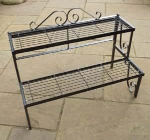 gap garden products st nder regal f r topfpflanzen 2 etagen garten. Black Bedroom Furniture Sets. Home Design Ideas