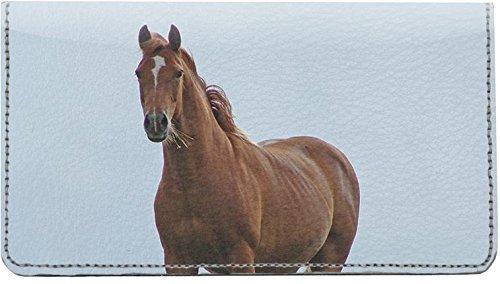 Pferde Leder Checkbook Cover