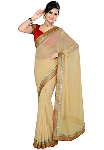 sarees for women party wear New Collection Fancy And Regular Wear Beige...