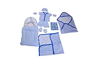 Mitten Cap and Booty Set with Baby Bed and Baby Towel for Newborn Baby Boy and Newborn Baby Girl