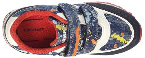Lumberjack Jungen Galaxy 002p21 Niedrige Sneaker Blu (Splash Blue/Blue)