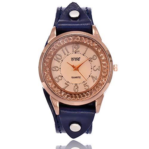 Förderung! Armbanduhr Damen, LEEDY Frauen Mode Einfaches Ultradünne Uhren Retro Quarz Analoges Lederarmband Casual Kleid Uhr 2019 Neu -