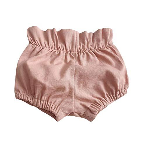 Pluderhosen, Sommer einfarbig Rüschen Bib Shorts, Sommer Kleinkind Baby Boy faltige Hosen Shorts Höschen Hosen, 3 Monate - 3 Jahre alt ()