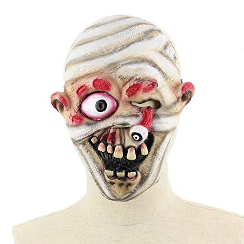 RYTHN Maske Scary Zombie Dolls Maske, Halloween Maske Devil Demon Wizard Kostüm Party Latex MaskeBlutende Zombie Horror Gesichtsmaske Für - Devil Doll Kostüm